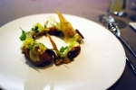 Sunchoke - braised mustard seeds, freekah, cippolini onion, lovage