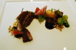 Veal cheek – red wine braised endive, green grape, black mint