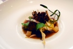 Maitake - preserved daikon, coffee, scallion