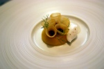 Poached Quince – elderflower, tamarind juice, bronze fennel
