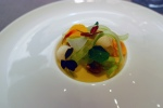 Caramelized sudachi – toasted cashew, asian pear, nasturtium