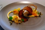 Roasted pumpkin – caramelized chocolate, mandarin, lemon balm